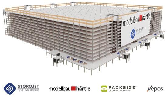 Modellbau Härtle setzt 2021 auf automatisches Kleinteilelager STOROJET